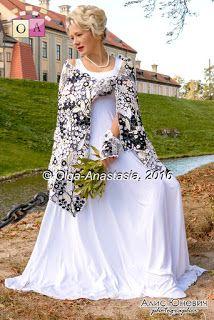 "Irish lace   by olga-anastasia: Ирландское кружево Палантин ""Марина"" от Ольга-Анас..."