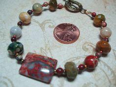 Crazy Lace Agate ocean jasper bracelet by INNERLIGHTCREATIONS, $20.00