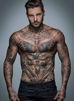 I always find people with a lot of tattoos interesting. I just want to study them.