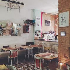 Bicioci Bike Café,  in Barcelona's Gràcia 'hood... Instagram photo by @we_heart (We Heart) | Iconosquare
