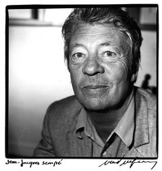 Jean-Jacques Sempé (1932) - French cartoonist. Photo by Renaud Monfourny