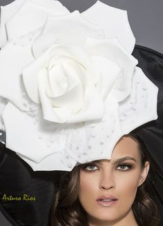 Black and white kentucky derby hat Big Gardenia by ArturoRios