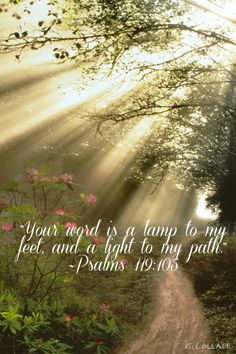 """""""Your word is a lamp to my feet, and a light to my path."""" ~Psalms 119:105 NKJV bible verse made by Emma Nicole"""