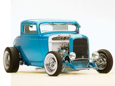 Ford 1932 Blue Deuce Coupe. One of the vehicles available for sale at Fairchild's Antique Auto Restorations....