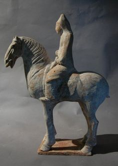 Beautiful Tang Dynasty Tomb Pottery Horse and Rider