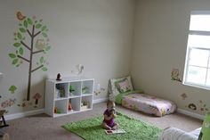 Very pretty Montessori style baby room                                                                                                                                                                                 More