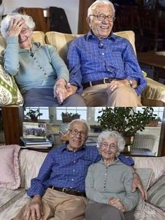 "Celebrating 83years of marriage....103 yr husband,100yr wife....that's what I call""special love """