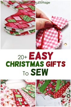 Christmas Sewing Patterns, Christmas Sewing Projects, Xmas Crafts, Crafts To Sew, Christmas Sewing Gifts, Christmas Patchwork, Diy Projects, Easy Diy Christmas Gifts, Family Christmas Gifts
