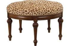 U-3074-0630 Orleans Round Ottoman available at French Heritage