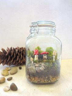 Secret Faerie Hideaway...Tiny Mushroom House  Etsy.