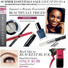 Up to 60% off Avon  #Makeup #MegaEffectsMascara only $7.99, #SummerEssentials 55% off, 55% off #TheBigSale , 2 #Free #Samples when you sign up for our Avon emails to receive exclusive promos on your fav products, and as always #FreeShipping with your order of $35 or more! Find all of these great offers on www.YourAvon.com/MPauldo