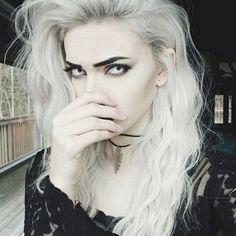 Hair, eyes, she