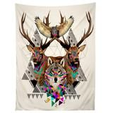 Kris Tate Forest Friends Tapestry   Deny Designs Home Accessories