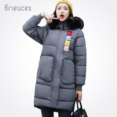 Cheap winter jacket women, Buy Quality long parka directly from China parka female Suppliers: Brieuces Winter Jacket Women Coat Long Parkas Female Warm Overcoat Big Fur Collar High Quality Thicken jacket women hooded Cheap Winter Jackets, Winter Jackets Women, Long Jackets, Coats For Women, Clothes For Women, Parka Style, Long Parka, Womens Parka, Cotton Jacket