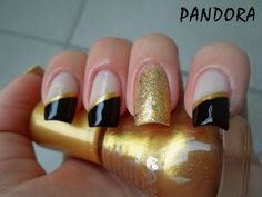 Pandora nails #nail #nails #nailart asymmetrical french tips with striping tape