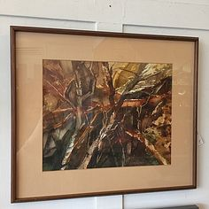 #Modernist #Abstract #Watercolor Of  #Trees By #DodeSchroeder -Click On Link For All Info