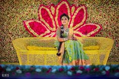 A Grand Tirupur Wedding With The Bride In Graceful Green! South Indian Weddings, South Indian Bride, Indian Bridal, Desi Wedding, Wedding Stage, Wedding Bride, Stage Decorations, Indian Wedding Decorations, Wedding Trends