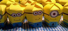 Minion Boxes! Done with hexagonal boxes template! My students loved them!  Cajitas de minions hechas con el molde de una cajita hexagonal.  A mis alumnos les encantaron!
