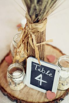 Samantha Elizabeth: Vintage Country Wedding Center Piece