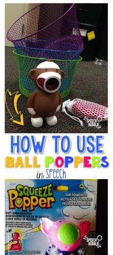 Ideas for how to use these fun, indoor toys in speech therapy.