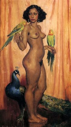 Olive by the Australian painter Norman Lindsay (1879-1969).