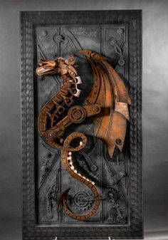 steampunk sculptures - Lance Oscarson's steampunk sculptures are not only intricately done, they're also an ingenious idea as he uses cardboard as the primary..