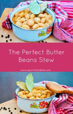 This is the perfect butter beans stew recipe ever! I learned it from my mother and I've been cooking it ever since! | gourmandelle.com | #beans #stew #vegan