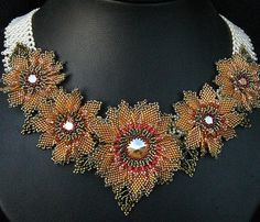 New Monet Garden Necklace by Cielo Design, via Flickr. Interesting colour choices! Curleytop1.