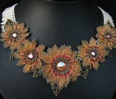 New Monet Garden Necklace by Cielo Design, via Flickr