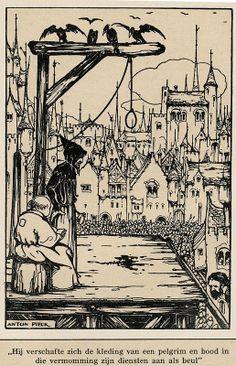 Anton Pieck Helden der mensheid 1941 ill Robin Hood b