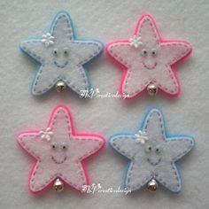 Handmade Star Felt Applique (Double Layer). $5.00, via Etsy.