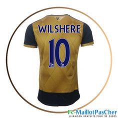 Maillot du Arsenal doré WILSHERE 10 Exterieur 15 2016 2017