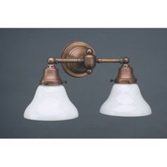 Northeast Lantern 2 Light Socket Sconce Finish: Antique Brass, Shade Color: 38W White