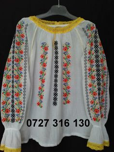 WhatsApp Image at Types Of Shirts, Shirt Types, 50th, Cross Stitch Patterns, Tunic Tops, Popular, Costumes, Embroidery, Clothes For Women