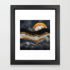 Buy Metallic Mountains Framed Art Print by spacefrogdesigns. Worldwide shipping available at Society6.com. Just one of millions of high quality products available.