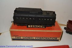 Lionel Trains Wide selection of vintage items. Bids close Wed, 15 Dec from 11am ET. http://bid.cannonsauctions.com/cgi-bin/mnlist.cgi