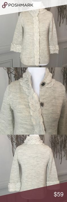 Anthropologie-Moth Sweater. Adorable! Beautiful detail! Snaps of the front.  Perfect condition! 100% wool Anthropologie Sweaters Cardigans