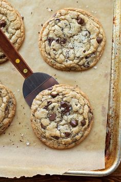 What's better than chocolate chip cookies? Fresh baked chewy XL browned butter chocolate chip cookies! They're they best!