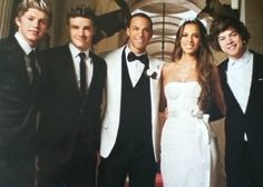 Marvin and Rochelle Humes with One Direction