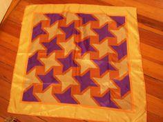 1980s Star Scarf  Purple and Yellow  YazBerry  by yazberryfashion, $19.00