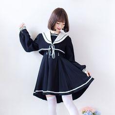 星彩虹*软妹 蝴蝶学院 加厚改良西式冬制服外套连衣裙~ 现货