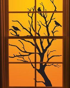Halloween decorating ideas scare tactics indoors and for Halloween window designs