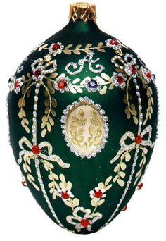 Museum Collection Fabergé Alexander Palace Egg Glass Ornament-Large