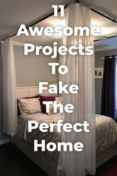 With these faux projects, you'll have a beautiful home in no time! Home Decor | DIY | Home Improvement Cute Dorm Rooms, Cool Rooms, Shabby Chic Vintage, Farmhouse Side Table, Farmhouse Decor, Farmhouse Design, Modern Farmhouse, Home Look, Home Improvement Projects