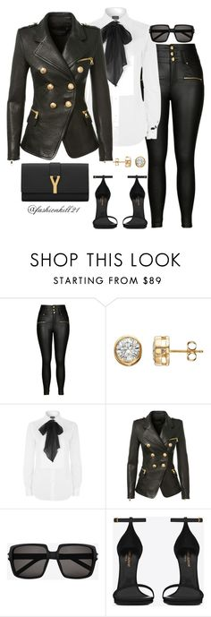 """""""Lady Like"""" by fashionkill21 ❤ liked on Polyvore featuring City Chic, Polo Ralph Lauren, Balmain, Yves Saint Laurent and plus size clothing"""
