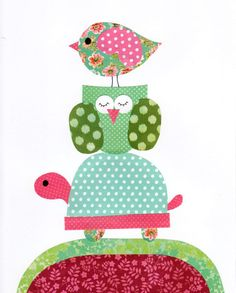Colorful Animal Nursery Artwork Print // Baby Room Decoration // Kids Room…