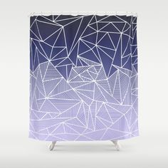 'Bayo Rays' Shower Curtain by Fimbis | Society6 . . Home decor, interiors, interior design, fashion, summer, gradient, purple, lilac, white, fashionista, bathroom,