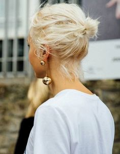 @andwhatelse gold statement ball earring