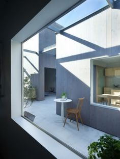 Awesomely tiny and minimal interior of a micro house in Buzan, Japan.