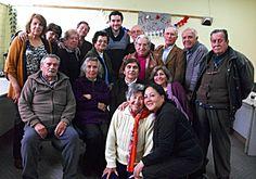 """Taller literario en San Bernardo, 2013.  Creación del libro """"Estrellas sin límites""""."""